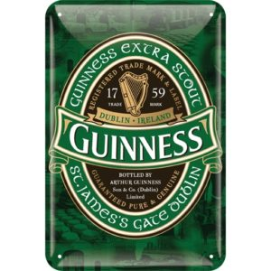 BUY GUINNESS IRELAND LABEL METAL SIGN IN WHOLESALE ONLINE