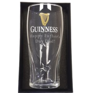 BUY GUINNESS HAPPY FATHER'S DAY DAD ENGRAVED GRAVITY PINT GLASS IN WHOLESALE ONLINE