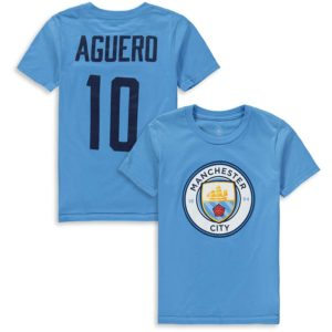 BUY MANCHESTER CITY AGUERO NAME NUMBER YOUTH T-SHIRT IN WHOLESALE ONLINE