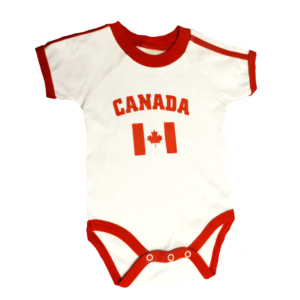 BUY CANADA WHITE BABY ONESIE IN WHOLESALE ONLINE