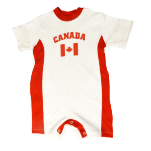 BUY CANADA WHITE BABY ROMPER IN WHOLESALE ONLINE