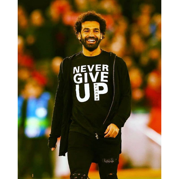 cbb010bd05ce1 LIVERPOOL - BLACK NEVER GIVE UP T-SHIRT (IN STOCK AUG 1)