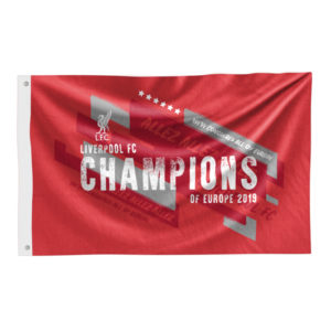 BUY LIVERPOOL CHAMPIONS OF EUROPE 2019 FLAG IN WHOLESALE ONLINE