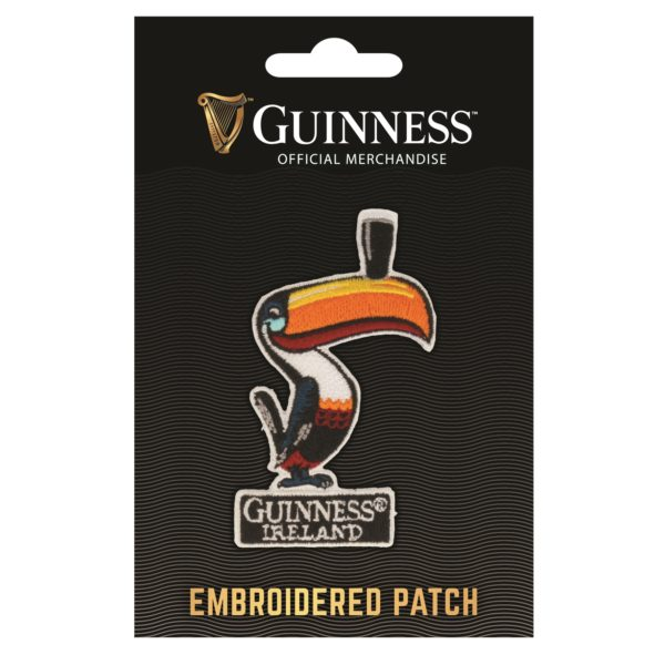 GUINNESS TOUCAN EMBROIDERED IRON ON PATCH