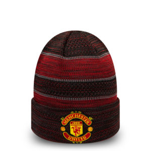 BUY MANCHESTER UNITED RED BLACK NEW ERA KNIT BEANIE IN WHOLESALE ONLINE