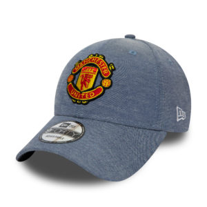 BUY MANCHESTER UNITED BLUE DENIM NEW ERA 9FORTY BASEBALL HAT IN WHOLESALE ONLINE