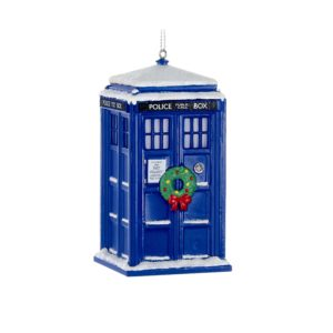 DOCTOR WHO TARDIS WREATH LIGHT ORNAMENT