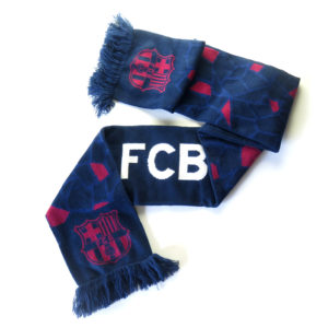 BARCELONA DOUBLE SIDED NAVY SCARF