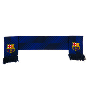 BARCELONA DOUBLE SIDED NAVY STRIPED SCARF