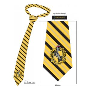 HARRY POTTER HUFFLEPUFF STRIPED TIE
