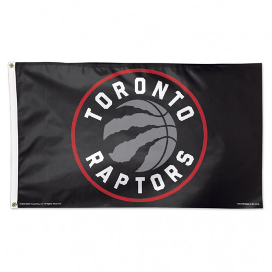 BUY RAPTORS BLACK LOGO DELUXE FLAG IN WHOLESALE ONLINE
