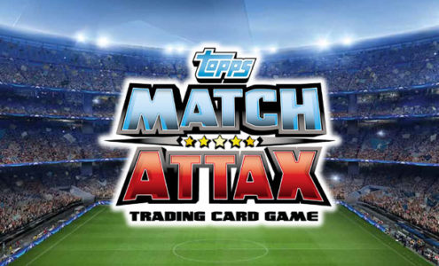Topps Match Attax Logo on stadium background