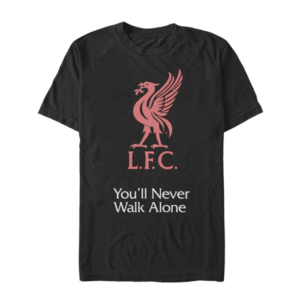 BUY LIVERPOOL VINTAGE BLACK YOU'LL NEVER WALK ALONE T-SHIRT IN WHOLESALE ONLINE