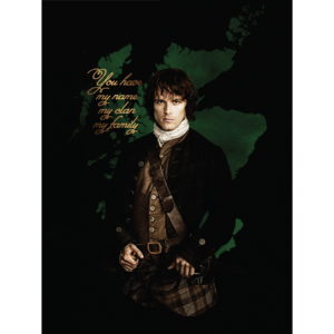 OUTLANDER JAMIE FLANNEL FLEECE BLANKET