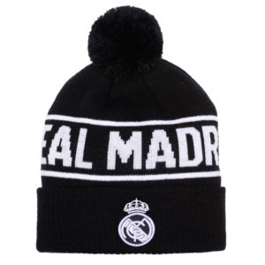 BUY REAL MADRID BLACK POM BEANIE IN WHOLESALE ONLINE