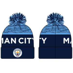 BUY MANCHESTER CITY TWO-TONE POM BEANIE IN WHOLESALE ONLINE