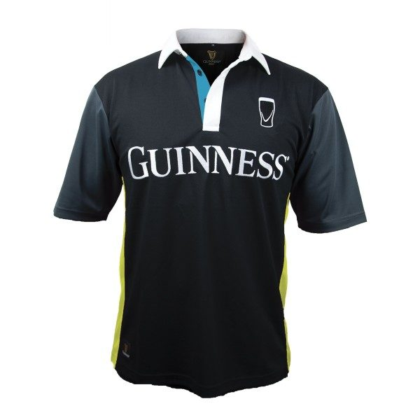 GUINNESS YELLOW BLACK STRIPED RUGBY JERSEY