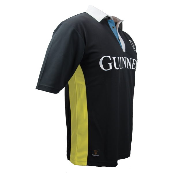 watch 30772 4d933 GUINNESS - YELLOW & BLACK STRIPED RUGBY JERSEY (IN STOCK AUG 15)