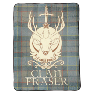 BUY OUTLANDER CLAN FRASER FLANNEL FLEECE BLANKET IN WHOLESALE ONLINE