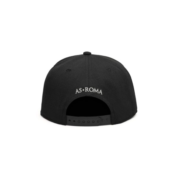 BUY AS ROMA BLACK FLAT PEAK SNAPBACK IN WHOLESALE ONLINE