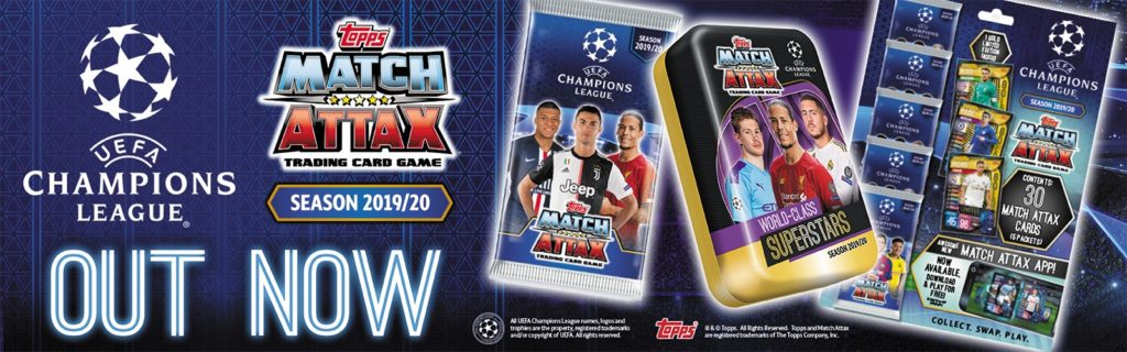 2019-20 TOPPS MATCH ATTAX CHAMPIONS LEAGUE CARDS BANNER