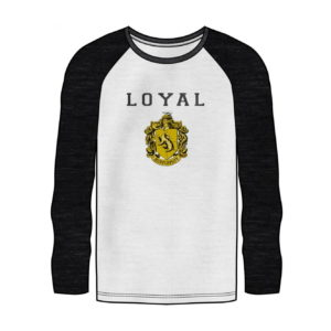 HARRY POTTER HUFFLEPUFF RAGLAN LONG SLEEVE SHIRT
