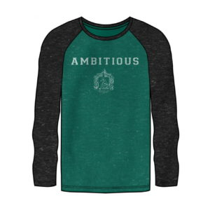HARRY POTTER SLYTHERIN RAGLAN LONG SLEEVE SHIRT