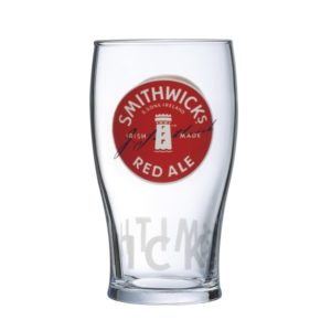 SMITHWICKS RED LABEL PINT GLASS
