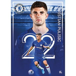 PULISIC CHELSEA 2020 ACTION POSTER