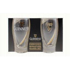 BUY GUINNESS MINIATURE EMBOSSED PINT GLASS PACK IN WHOLESALE ONLINE