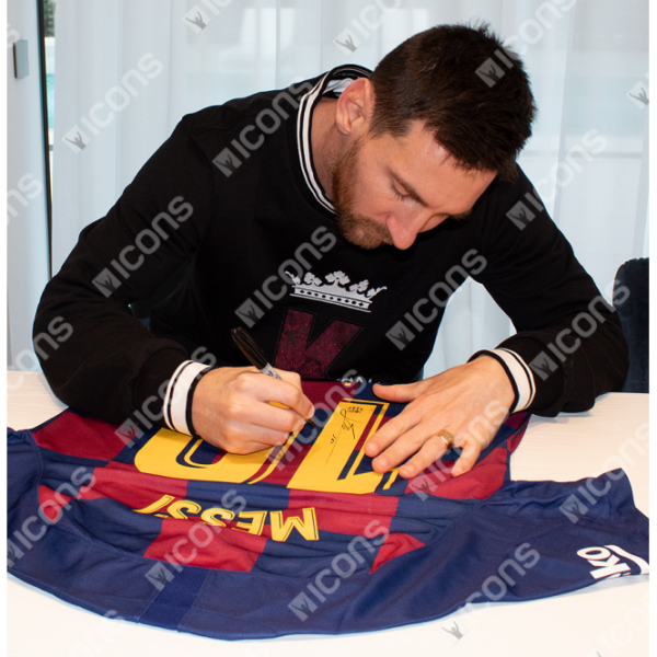 BUY AUTHENTIC SIGNED LIONEL MESSI 2019-20 BARCELONA JERSEY IN WHOLESALE ONLINE