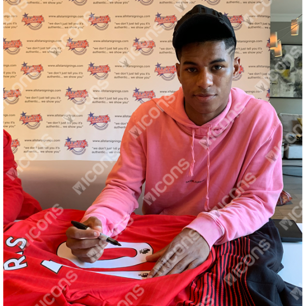 BUY AUTHENTIC SIGNED MARCUS RASHFORD 2018-19 MANCHESTER UNITED JERSEY IN WHOLESALE ONLINE