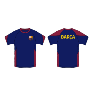 BUY BARCELONA NAVY YOUTH POLYESTER T-SHIRT IN WHOLESALE ONLINE