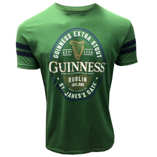 BUY GUINNESS GREEN & NAVY LABEL PREMIUM T-SHIRT IN WHOLESALE ONLINE