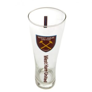 BUY WEST HAM SLIM STYLE PINT GLASS IN WHOLESALE ONLINE