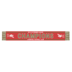 BUY LIVERPOOL 2019-20 PREMIERE LEAGUE CHAMPIONS SCARF IN WHOLESALE ONLINE