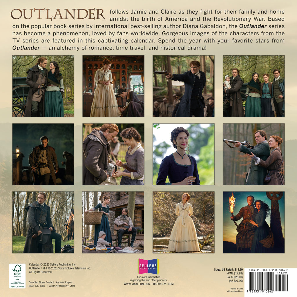 Buy Outlander 2021 Wall Calendar in wholesale online! | Mimi Imports