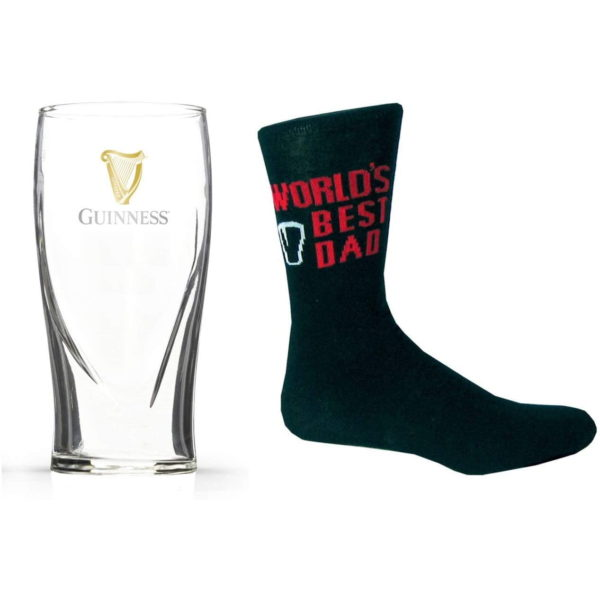 BUY GUINNESS FATHER'S DAY BEST DAD SOCKS PINT GLASS SET IN WHOLESALE ONLINE