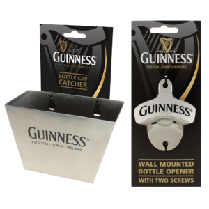 BUY GUINNESS WALL-MOUNTED BOTTLE OPENER CAP CATCHER SET IN WHOLESALE ONLINE