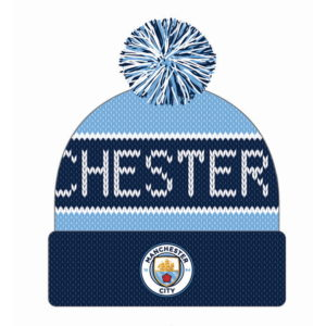 BUY MANCHESTER CITY BENCHWARMER POM BEANIE IN WHOLESALE ONLINE