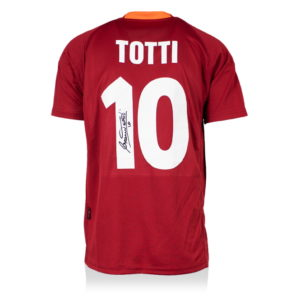 BUY AUTHENTIC SIGNED FRANCESCO TOTTI 2000-01 AS ROMA JERSEY IN WHOLESALE ONLINE
