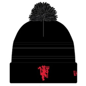 BUY MANCHESTER UNITED KNITTED NEW ERA BLACK POM BEANIE IN WHOLESALE ONLINE