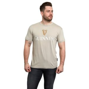 BUY GUINNESS TRADEMARK LABEL BEIGE T-SHIRT IN WHOLESALE ONLINE