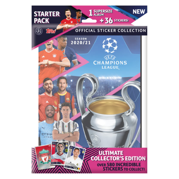 BUY 2020-21 TOPPS CHAMPIONS LEAGUE STICKERS STARTER PACK IN WHOLESALE ONLINE