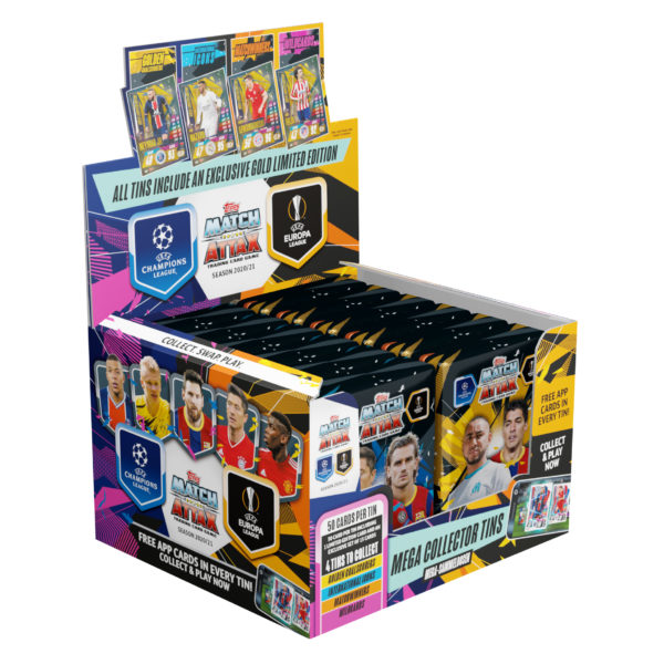 BUY 2020-21 TOPPS MATCH ATTAX CHAMPIONS LEAGUE CARDS MEGA TIN IN WHOLESALE ONLINE