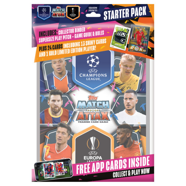 BUY 2020-21 TOPPS MATCH ATTAX CHAMPIONS LEAGUE CARDS STARTER PACK IN WHOLESALE ONLINE