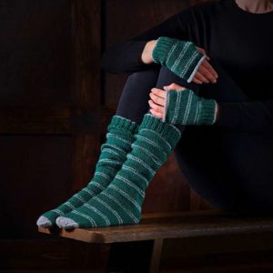 BUY HARRY POTTER SLYTHERIN SOCKS & MITTENS KNITTING SET IN WHOLESALE ONLINE