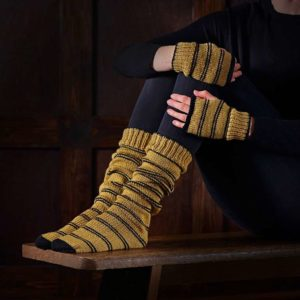 BUY HARRY POTTER HUFFLEPUFF SOCKS & MITTENS KNITTING KIT IN WHOLESALE ONLINE