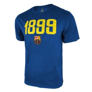 BUY BARCELONA ROYAL BLUE 1899 YOUTH POLY COTTON T-SHIRT IN WHOLESALE ONLINE