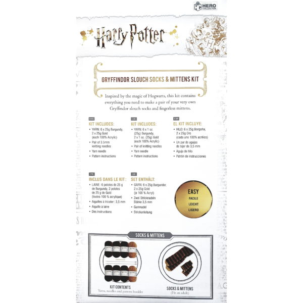 BUYHARRY POTTER GRYFFINDOR SOCKS & MITTENS KNITTING SET IN WHOLESALE ONLINE